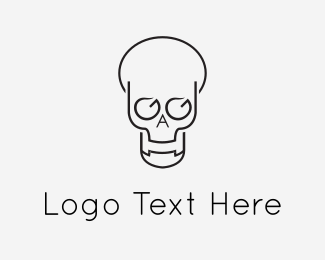 Bone - Abstract Skull logo design
