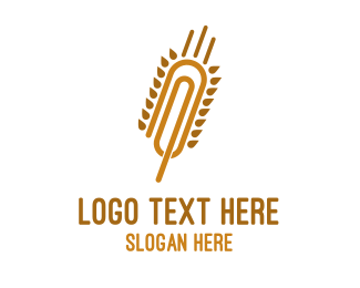 Wheat - Wheat Clip logo design