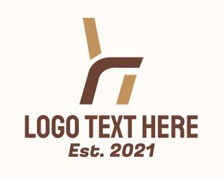 Living Room - Furniture Chair Letter R logo design