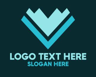 Abstract Digital Arrow  Logo