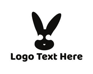 Hare - Black Bunny logo design