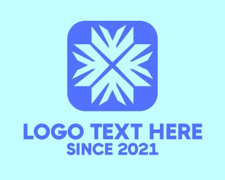 Meteorologist - Digital Blue Snowflake logo design