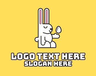 Mascot - Minimalist Easter Rabbit logo design