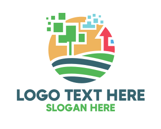 Farm - Pixel Farm logo design