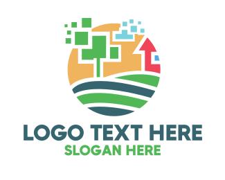 Farm - Pixel Farm logo design