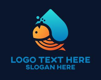Salmon - Aquatic Life  logo design