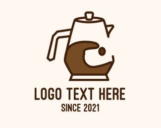 Coffee Maker - Brown Coffee Pitcher  logo design