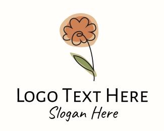 Intimate - Minimalist Peony Flower logo design