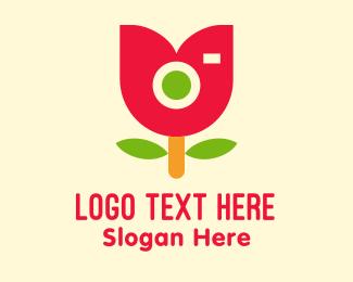Instagram - Cute Tulip Camera logo design