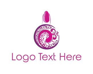 Nail - Pink Nail Polish logo design