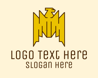 Tribal Gold Bird  Logo
