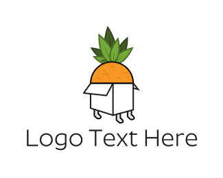 Orange Box - Fruit Box logo design