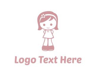 Little - Little Girl logo design