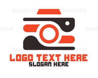 Blogger - Vlogger Camera logo design