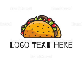 Food Truck - Taco Illustration logo design
