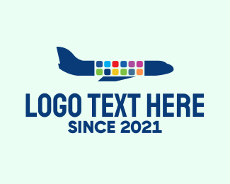 Airplane Mode - Mobile App Plane  logo design