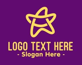 Talent Agency - Yellow Fancy Star logo design