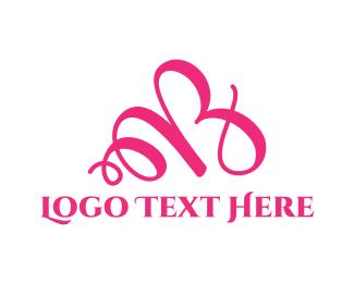 Brisbane - Pink Letter B logo design