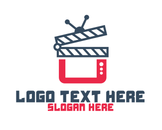 Movie Production - Modern Movie Media App logo design