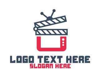 Movie Production - TV Movie Channel Vlog YouTube logo design