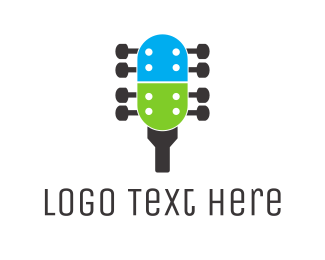Folk - Capsule Guitar logo design