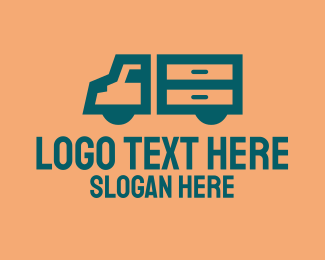 Shipping Company - Moving Delivery Truck logo design
