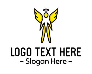 Yellow Wings - Yellow Angel logo design