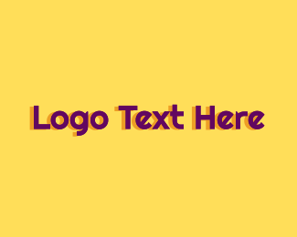 Modern Purple Text Logo