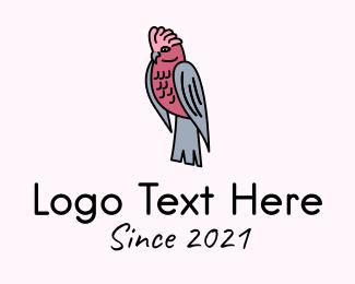 Finch - Galah Cockatoo Bird logo design