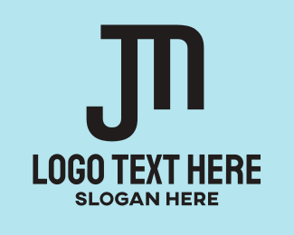 Haircut - Black JM logo design