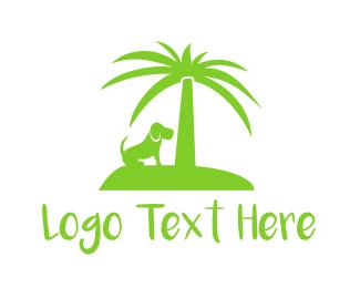 Island - Dog Island logo design