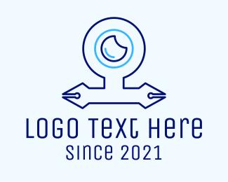 Pen - Webcam Pen Nib logo design
