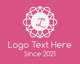 Beauty - Minimalist Floral Hexagon logo design