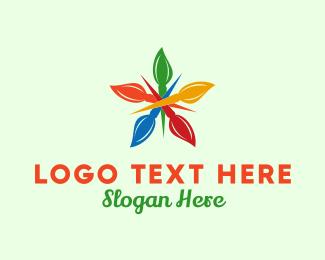 Paintbrush - Brush Star  logo design