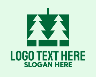 Season - Green Christmas Pine Tree  logo design