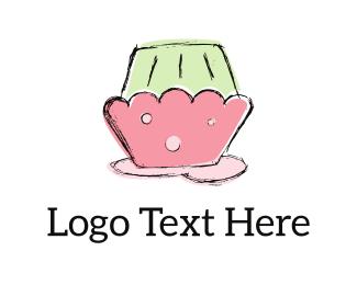 Icing - Pink Cupcake logo design