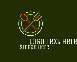 Neon - Restaurant Diner Neon Sign logo design