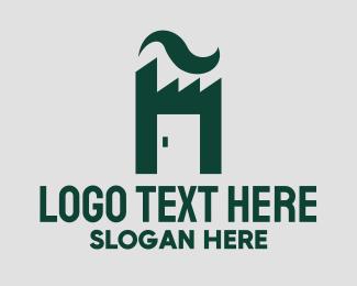 Factory - Industrial Factory Door  logo design