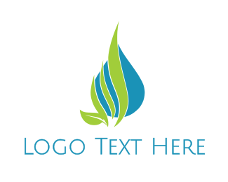 Mineral - Nature Leaf Drop  logo design