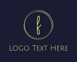 Fashion Label - Fashion F Circle logo design