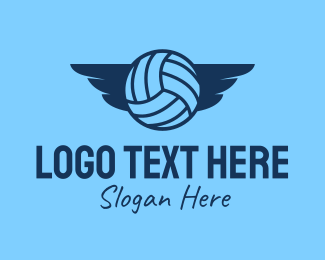 Sports Gear - Volleyball Wings  logo design