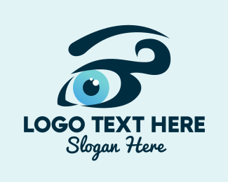 Eyebrow - Pretty Blue Eyes logo design