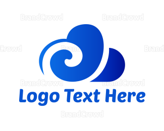 Cloud Drive - Blue Cloud  logo design