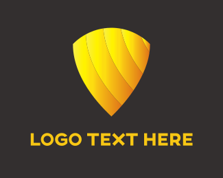 High Quality - Gold Shield logo design