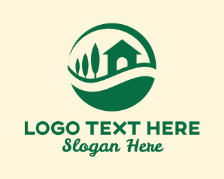 Smart Home - Green Eco Sustainable Home logo design