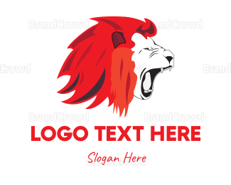 Red And Black - Red Lion logo design