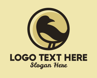 Nightingale - Brown Sparrow Bird  logo design