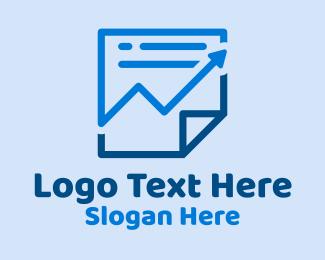 Trend - Arrow Document Report logo design
