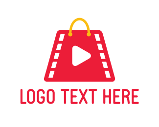 Shopping Bag - Film Market logo design