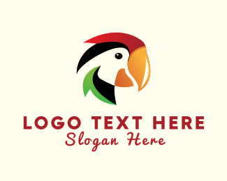 Feathers - Colorful Parrot logo design
